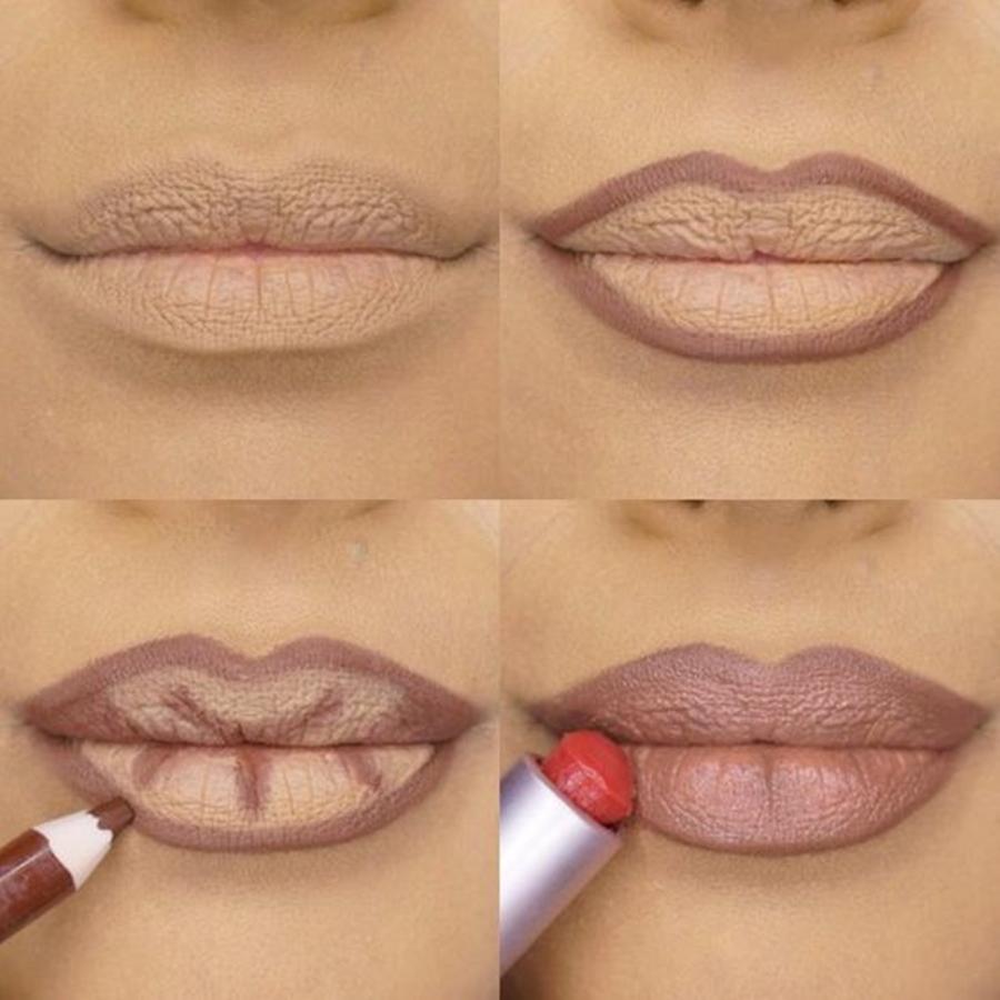 maquiagem para senhoras - volume para lábios