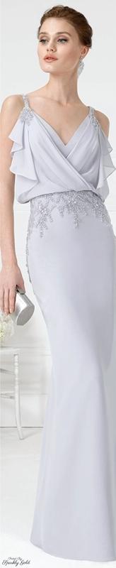 vestido longo para o casamento do filho