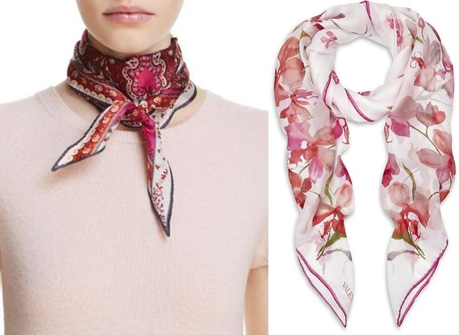 20 opções de modelos de lenços para usar no pescoço