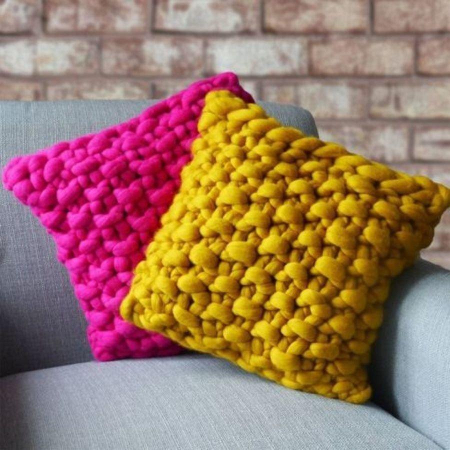 Almofadas em tricô - Faça você mesma