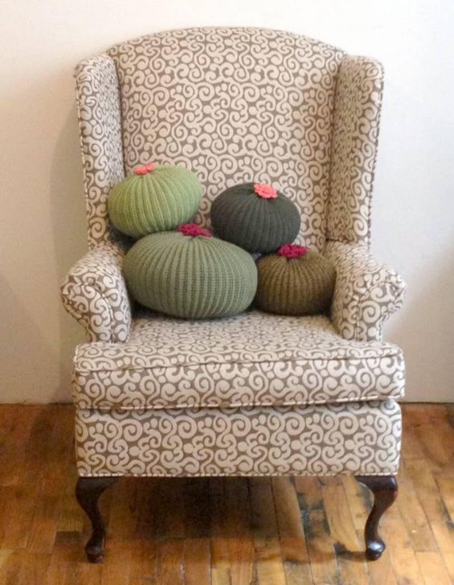 Ideias de almofadas em tricô - Faça você mesma