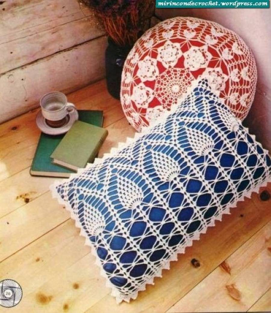 Almofadas em crochê - Faça você mesma