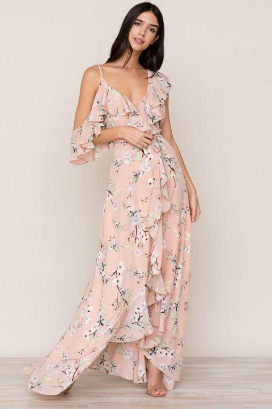 Moda anti-idade: Primavera romântica - vestido florido rosé