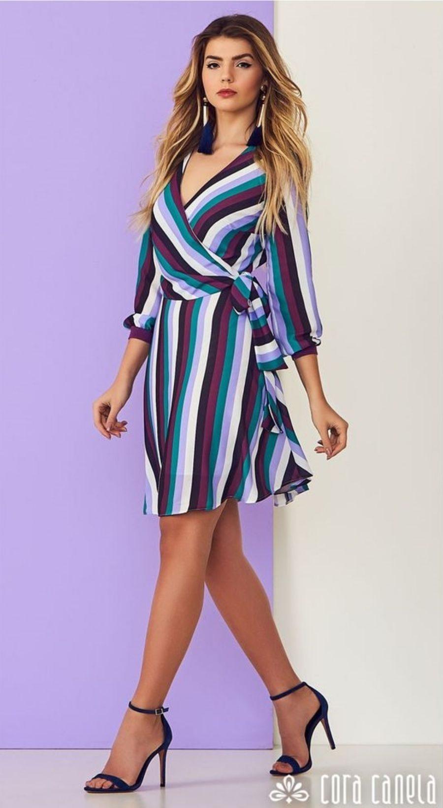 Moda anti-idade: vestido de listras