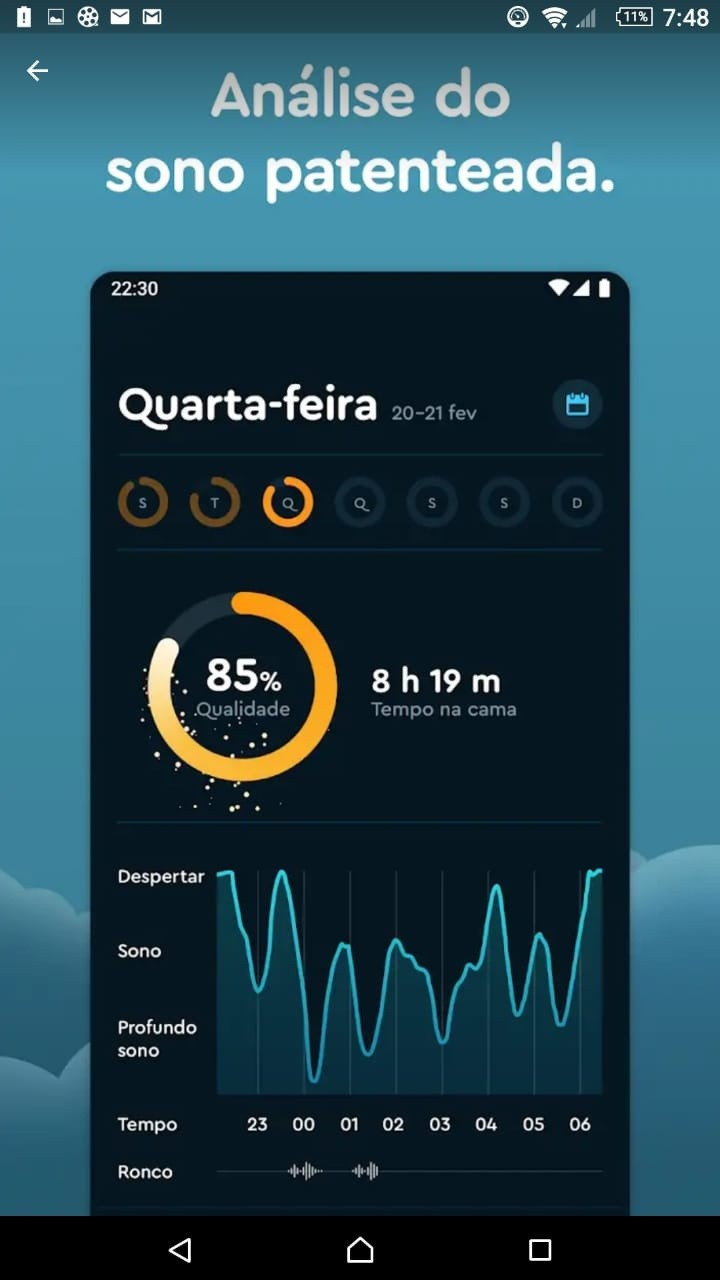 App Sleep Cycle  - 5 apps para dormir bem