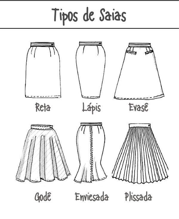 Tipos de saias: Saia Godê e Saia Evasê