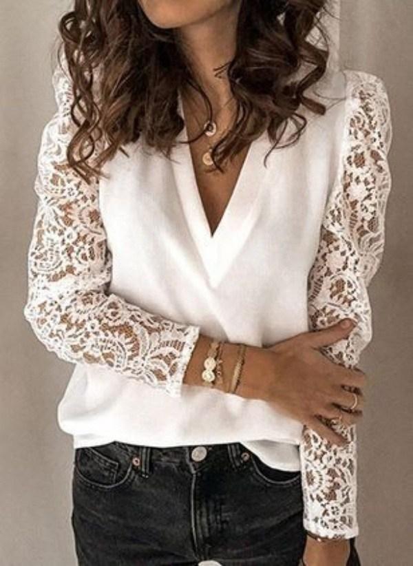 Moda Anti-idade: 16 Lindos Modelos de Blusa Branca