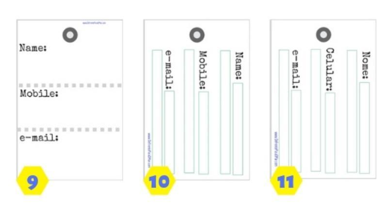 Para baixar e imprimir: Tags para identificar a mala