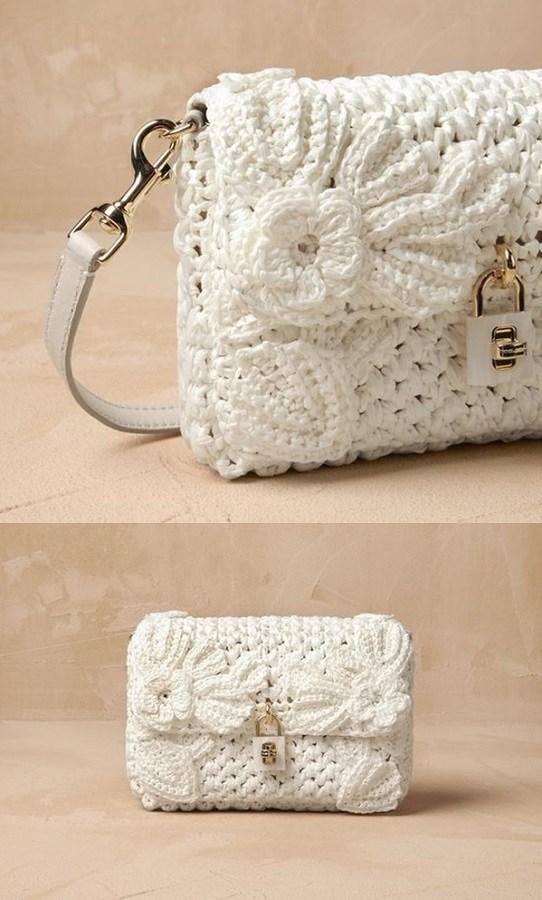 DiY - bolsa de grife em crochê Dolce Gabbana