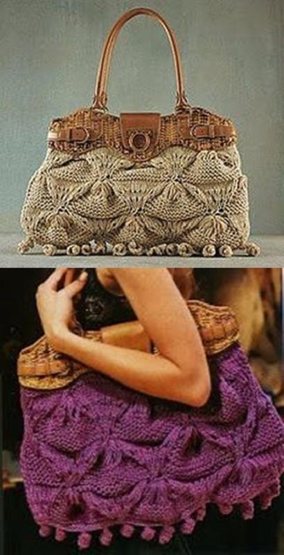 Faça você mesmo bolsa de grife em tricô de Salvatore Ferragamo