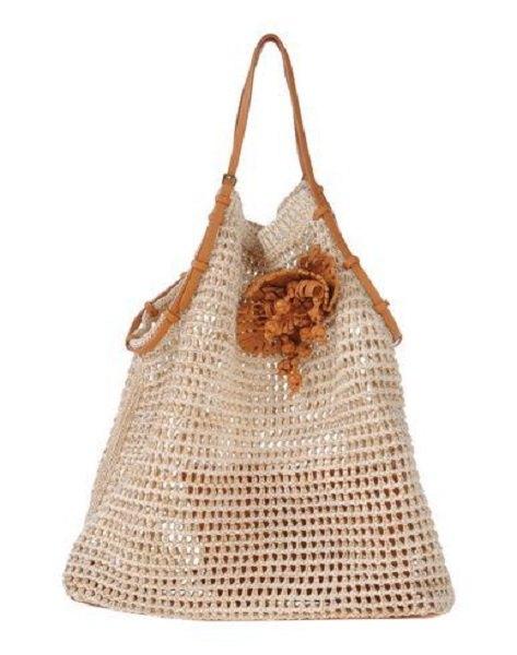 Do estilista Ermanno Scervino - bolsa de grife em crochê