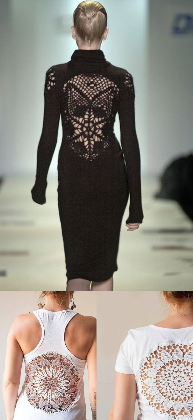 croche que aparece - blusa e vestido croche redondo