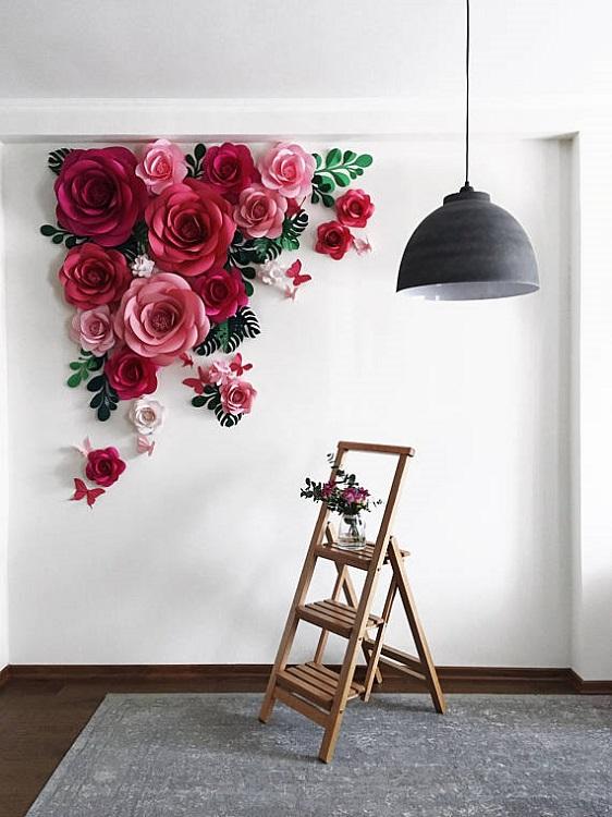 Flores Gigantes De Papel Diy Decora O De Frente Para