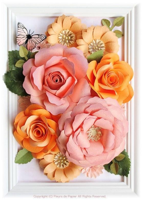 Flores gigantes de papel em 3D