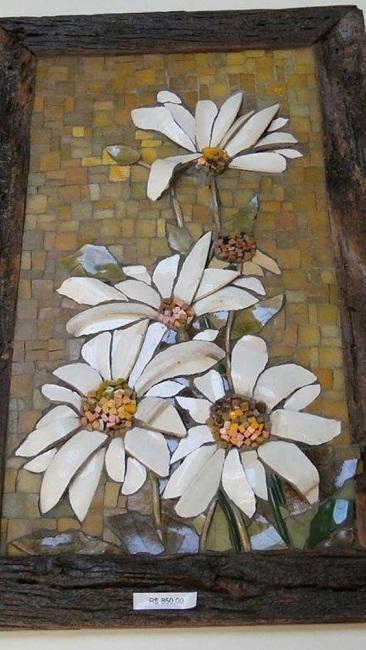 Mosaico pique assiette ou picassiette, DIY lindos quadros