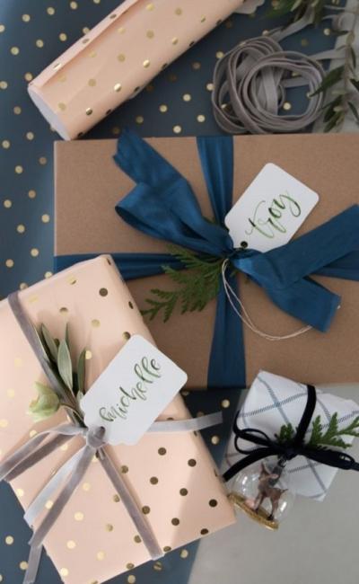DIY- Como fazer lindos pacotes de presente de Natal