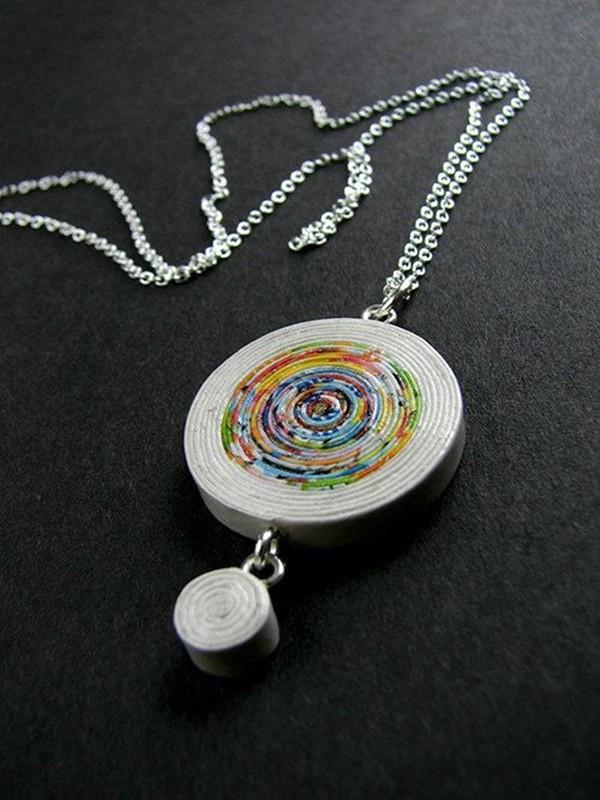 Bijuterias de papel reciclado - Faça e venda