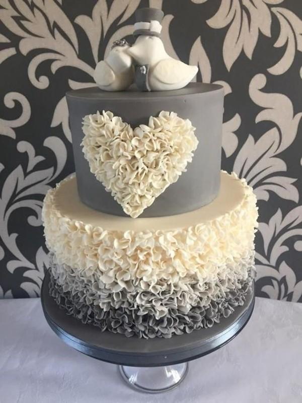 bolo para festa de casamento - bodas de prata