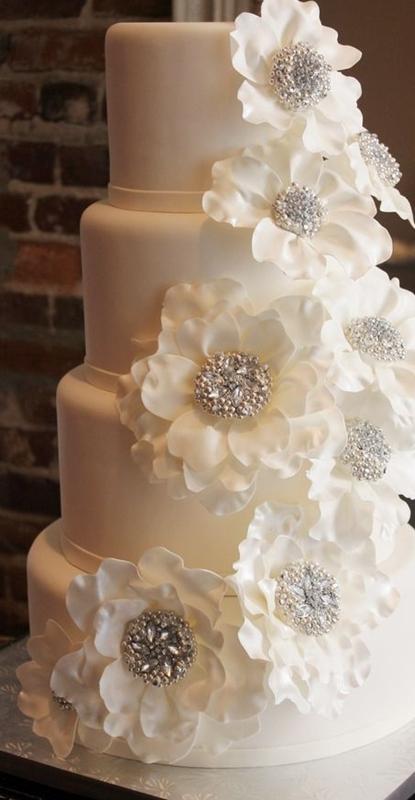 bolo para festa de bodas de prata - silver anniversary