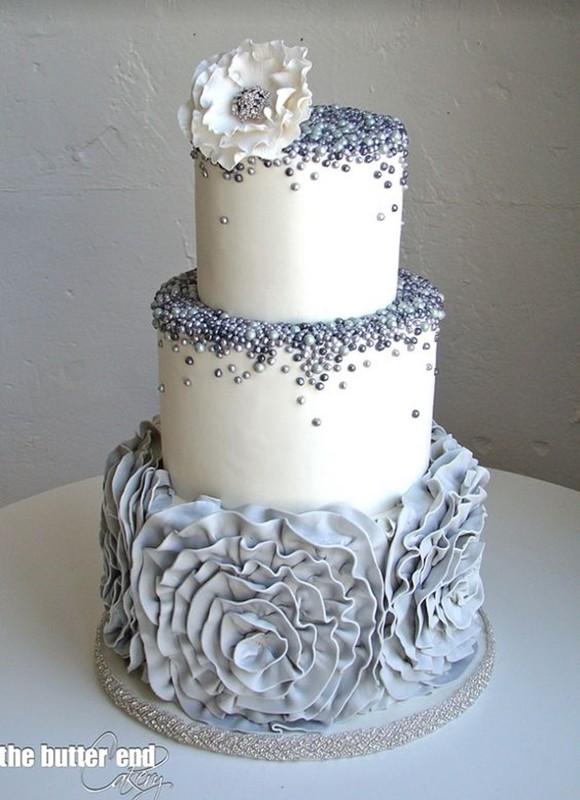 bolo de casamento - bodas de prata