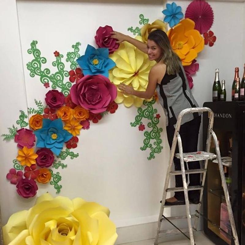 Decoraç u00e3o com flores gigantes para festa de aniversário u22c6 De Frente Para O Mar -> Decoração De Aniversário Com Flores Gigantes