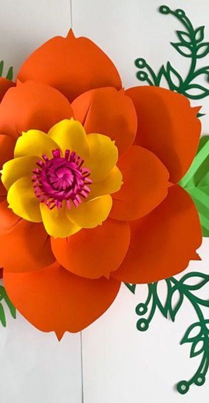 flor gigante para festas de aniversário