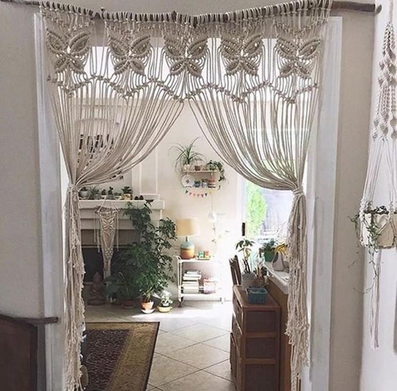cortina em macramê