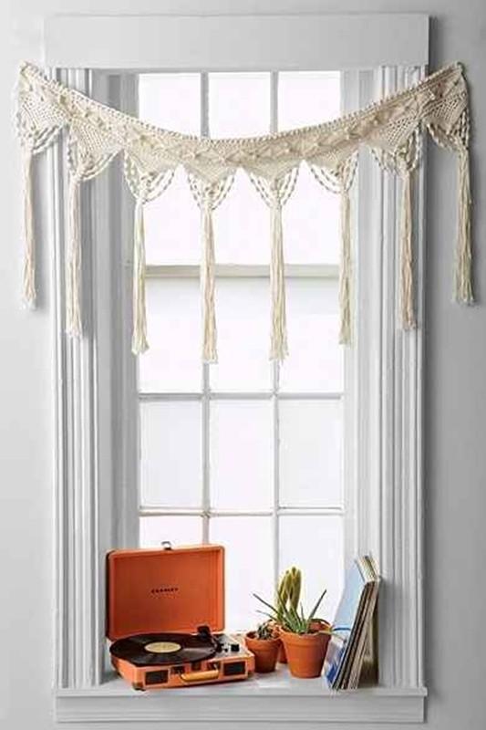 cortina de macramê - diy