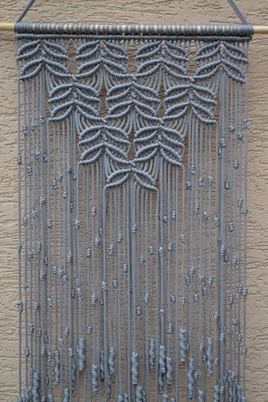 a arte de o macrame - painel de parede