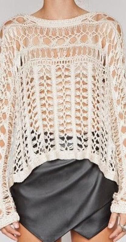 diy - blusa de crochê de grampo