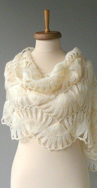hairpin lace - shawl - echarpe de crochê de grampo