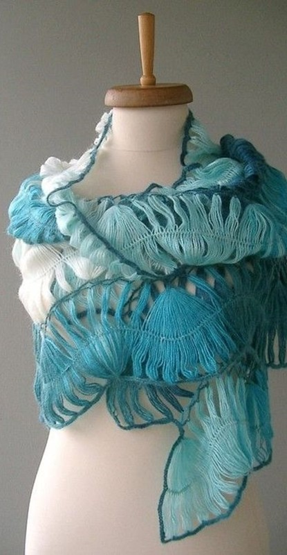 hairpin lace - shawl - crochê de grampo