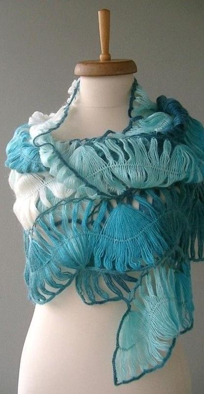 hairpin lace - shawl - crochê de grampo