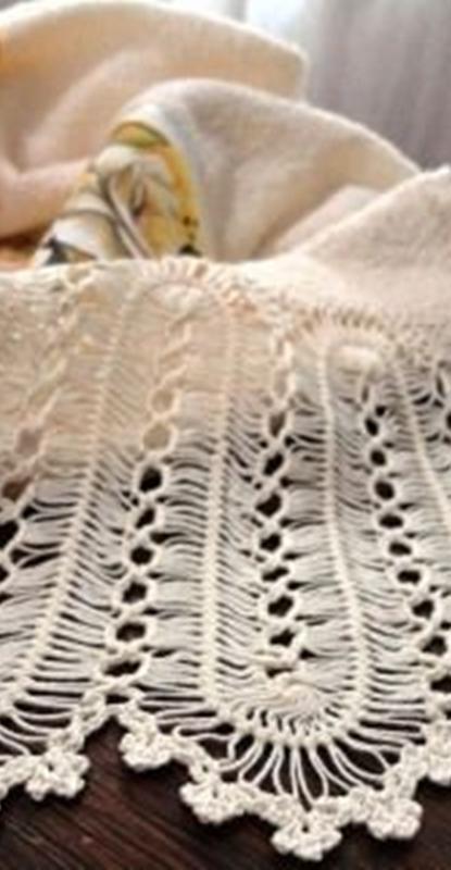 ponto de crochê de grampo - hairpin lace