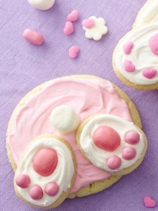 Biscoitos de coelho da Páscoa - bunny cookies