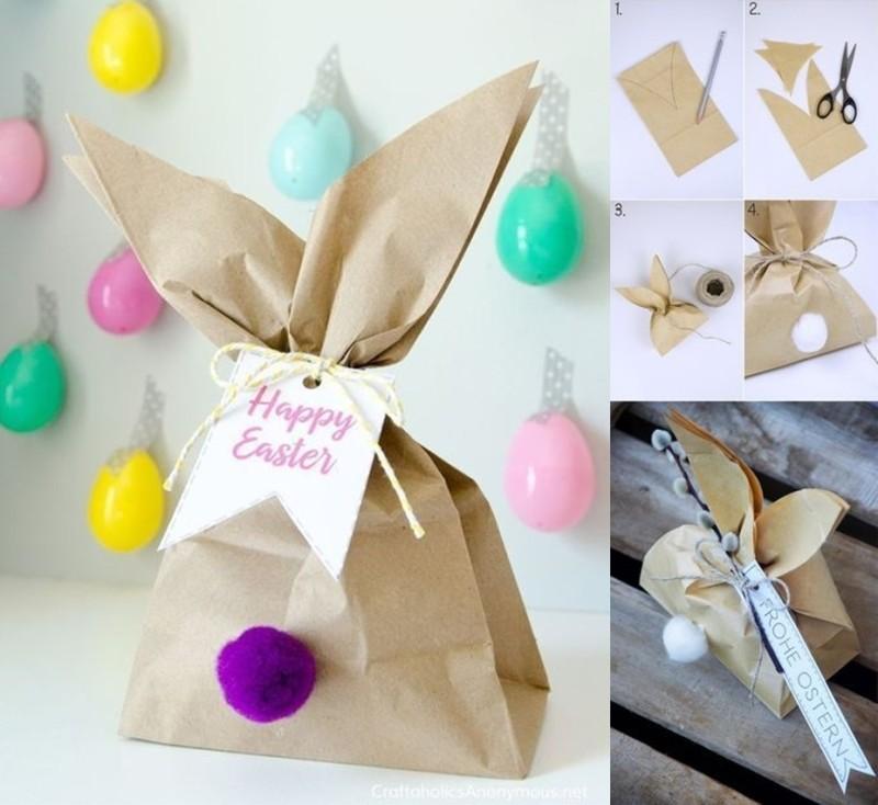enfeite para Páscoa , embrulhos com orelha do ovo