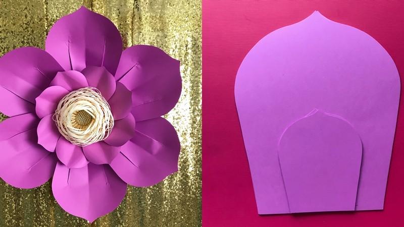 Molde de flor de papel gigante - giant flower