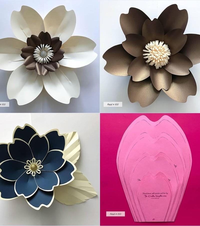 Moldes de flores gigantes de papel - giant flower