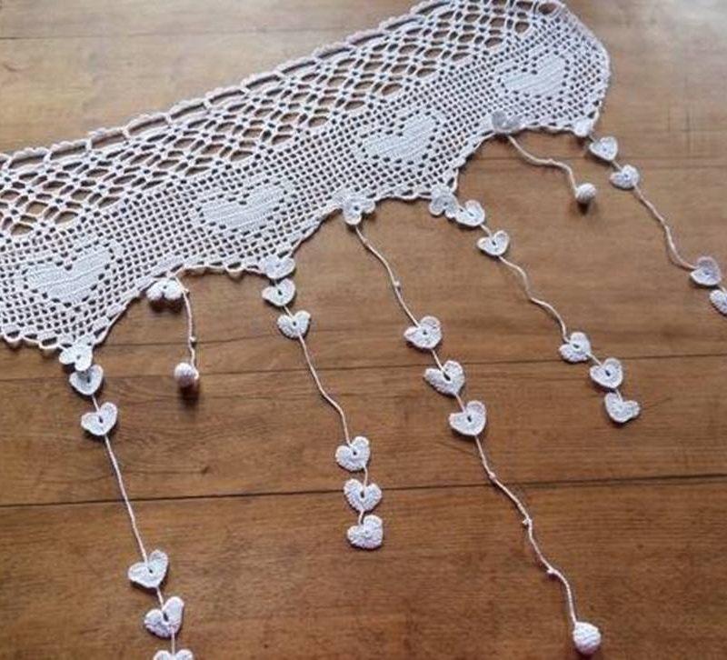 DIY - Bicos de crochê na cortina