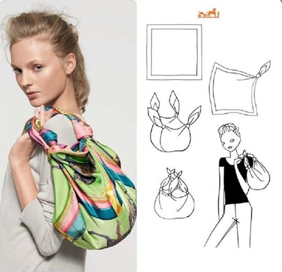 como fazer bolsa com lenço
