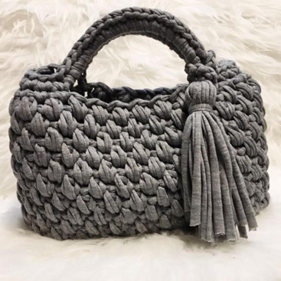 faça e lucre - bolsa de fio de malha