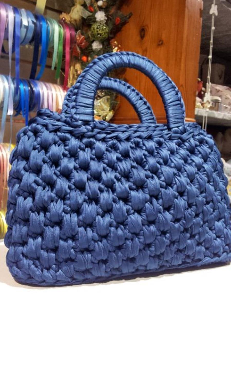 DIY - bolsa de fio de malha de crochê
