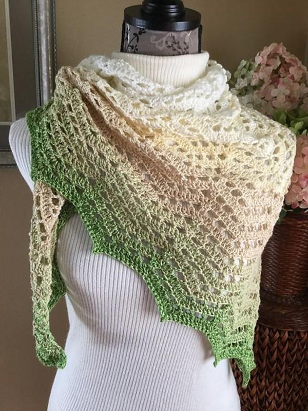 16 ideias de  xales de crochê coloridos