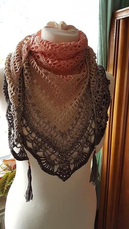 Faça você mesma - xale de crochê colorido