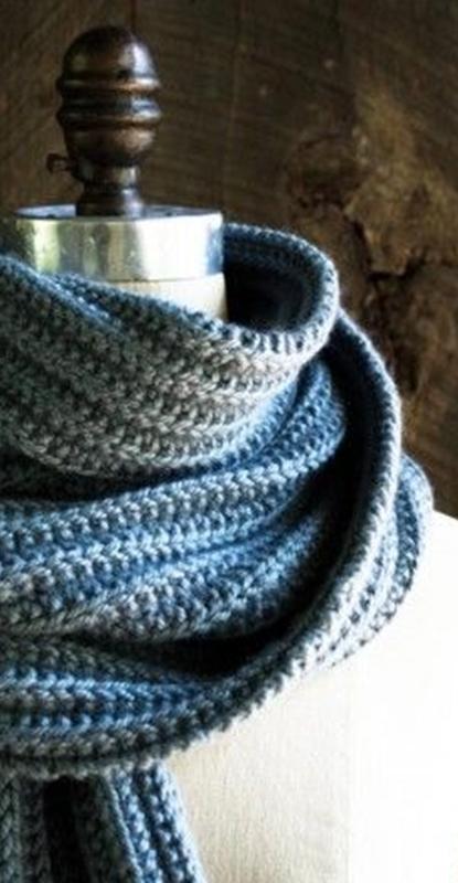 Cachecol masculino de tricô