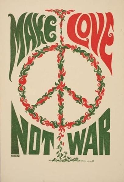 DIY Decor : Paz e Amor - o símbolo da Paz - poster