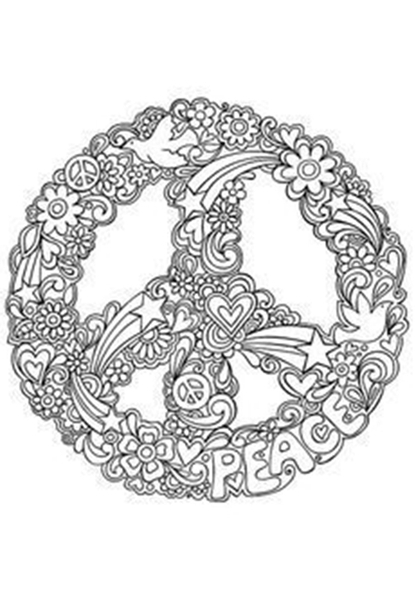 DIY Decor : Paz e Amor - o símbolo da Paz - para pintar