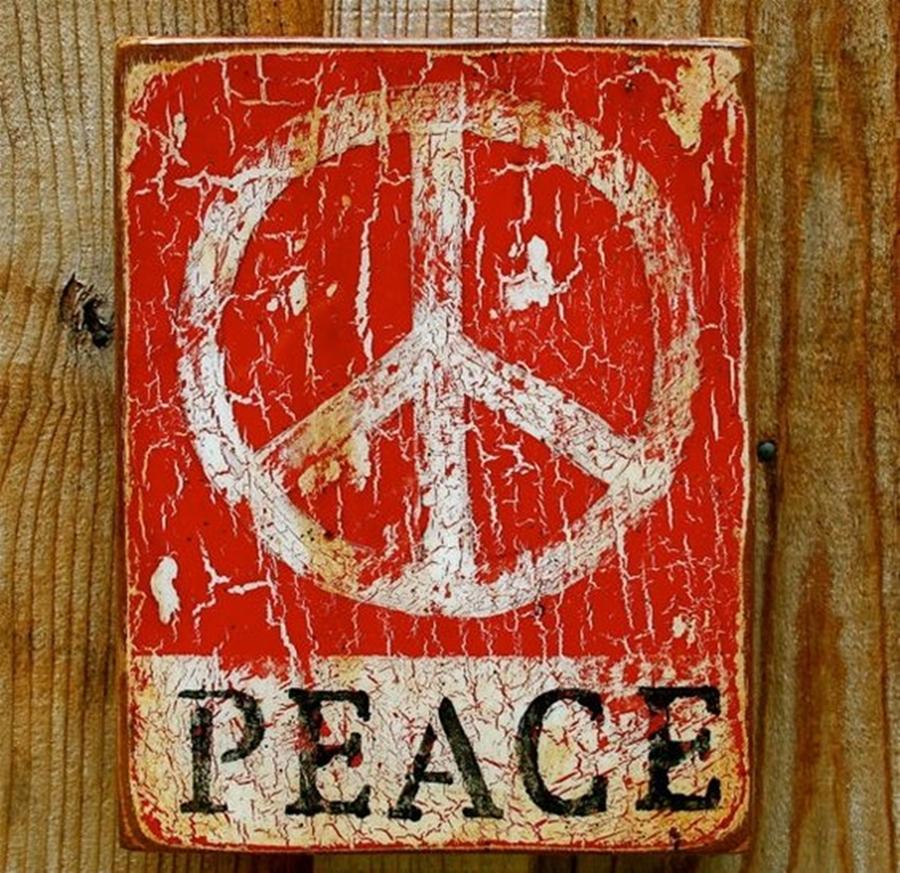 DIY Decor : Paz e Amor - o símbolo da Paz - quadro