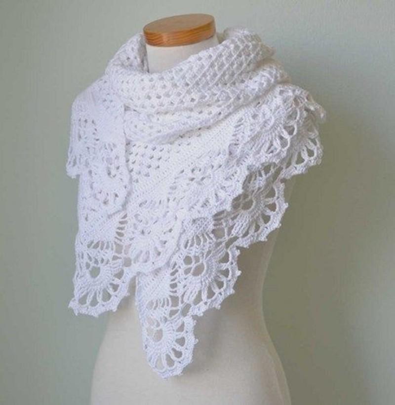 17 Lindos modelos de xales de crochê e trico para se inspirar