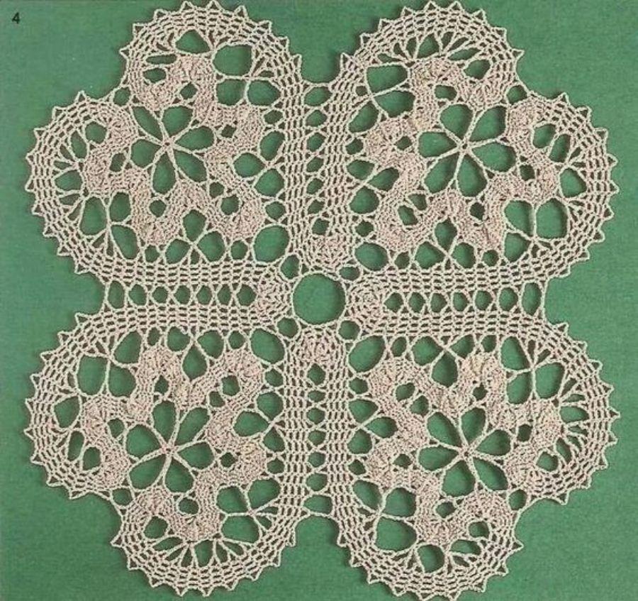 Faça você mesma - toalha com crochê de Bruges